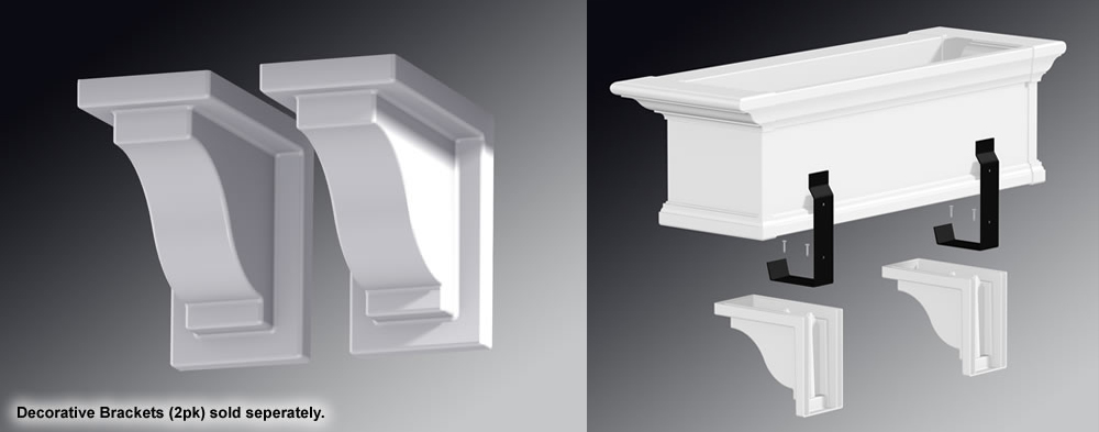 YORKSHIRE WINDOW BOX DECORATIVE BRACKETS