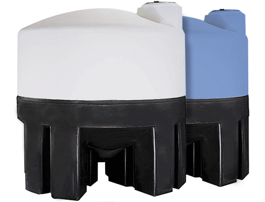 NORWESCO CONE BOTTOM TANKS WITH POLY STANDS