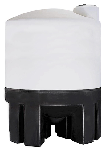 NORWESCO 310 GALLON CONE BOTTOM TANK WITH POLY STAND