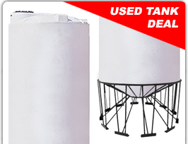 6500 GALLON SNYDER INDUSTRIES CONE BOTTOM USED TANK & STAND